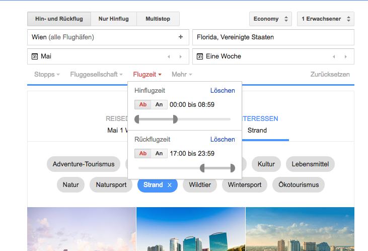 Google Flugsuche