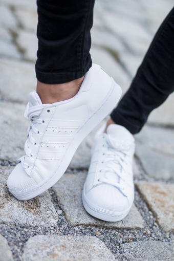 All Black Everything vs. All White Adidas Superst Chic Choolee