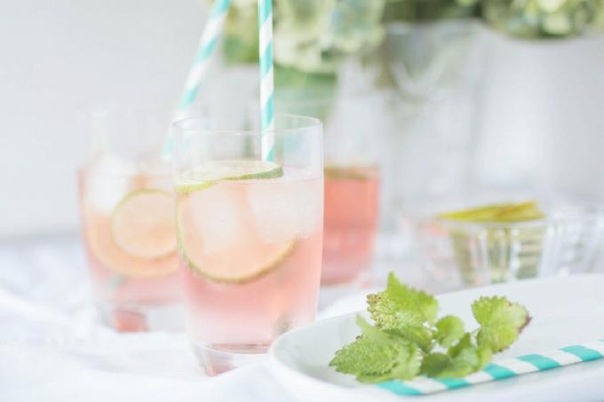 Limetten Rosé Spritzer