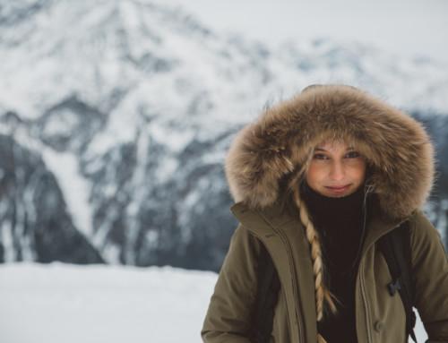 Warmes Schneeoutfit zum Wandern oder Apres Ski